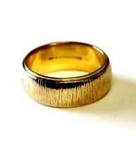 14K yellow gold 6.74mm wide womens wedding band ring artcarved 5 estate Vintage