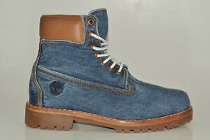 Timberland 6 Inch Premium Denim Boots Limited Edition Men Lace up Boots A1B43