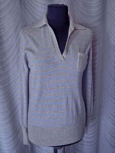 🔻Saint  James  100% cashmere Striped Jumper Size UK 10