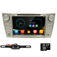 "Camera+MAP+8"" Indash Car GPS Stereo DVD Player Navigation Radio for Toyota Camry"