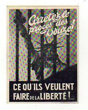 FRENCH SOCIALIST PROTEST CARD AGAINST THE UNITED STATES 1950 POSTALLY USED