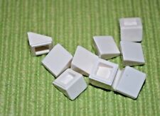 (10) 1x1 White Roof Slopes extra small ~ NEW LEGO