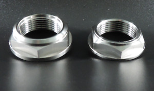 Aprilia RSV4 Titanium Front + Rear Axle Spindle Nuts Single Hex