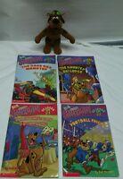 Lot of 4 Scooby Doo Scholastic Readers level 2 & Scooby Doo PlushCartoon Network