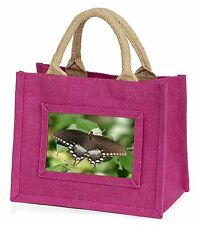 Butterflies, Brown Butterfly Little Girls Small Pink Shopping Bag Chri, IBU-5BMP