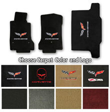 Corvette C6 Velourtex Carpet Floor Mats- Choice of Carpet Color & Logo