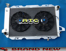 3 Core Aluminum Radiator for Ford F100 F150 F250 F350 Bronco V8 1983-1997 & Fans