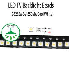 100pcs/lot led 2828 3v 350ma cool white for repair samsung led tv lcd backlight