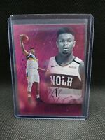2019-20 Essentials Zion Williamson PINK HOLO FOIL RC #210. Chronicles SP Rookie