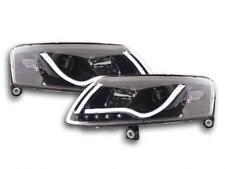 Coppia Fari Fanali Anteriori Tuning Dayline Luci Diurne Audi A6  4F 04 ->08 nero