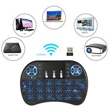 2.4GHz Mini Wireless Backlit Keyboard Remote Control w/Air Mouse Touchpad X8P6