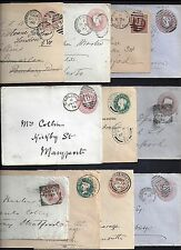 Uk Gb 1880's 90's Collection Of 11 Postal Covers Different Towns On Different