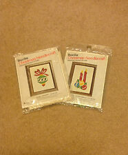 "Bucilla Christmas Needlecraft - ""Ornament & Holiday Candles"" - Crewel Kits"