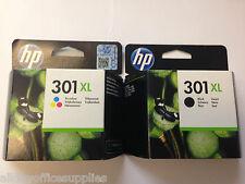 Genuine HP 301XL Black & HP 301XL Colour Inkjet Cartridge Twin Combo Pack