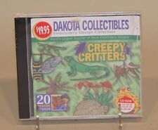 2000 Dakota Collectibles Embroidery Design Software CD CD-ROM Creepy Critters 20