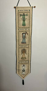 Angel of the Seasons Bell Pull fabric Wall hanging Cindy Shamp Arts Tapestry