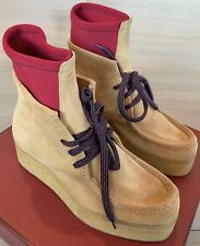 $900 Bally Horson Tan Suede Ankle Boots Size US 12 Made in Switzerland