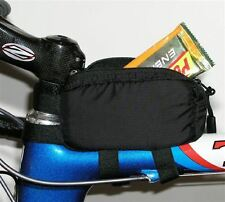 Bento Box zippered lunch box holds PowerBar, Snacks, Gels, Bars top tube mount