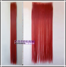 Dark Red Hair Weft Extention (3 pieces) - 100cm High Temp - Cosplay 8_DDR