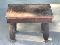 Antique Primative Farm Stool Table farmhouse Wood wooden NICE