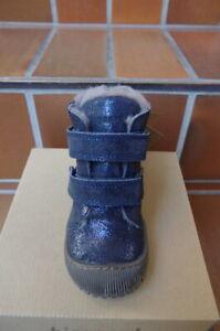 bisgaard 60332 Winterstiefel, dunkelblau, gefüttert u. wasserdicht, Klett, NEU!!