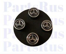 Genuine Mercedes-Benz Tire Valve Stem Caps Black Q6408126