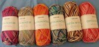 5 x 100g Siirdar 100% Cotton Print Double Knit Wool/Yarn for Knitting/Crochet