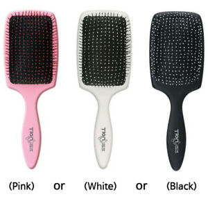 Tron ion Damp Brush Comb (Tracking) Korean Hair Detangling Paddle Fine Tipped