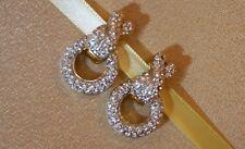Vintage Magnetic Clip Pavee Crystal Hoop Earring