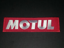 MOTORSPORTS MOTOR RACING SEW/IRON ON PATCH:- MOTUL (a) MOTO GP RACING OIL