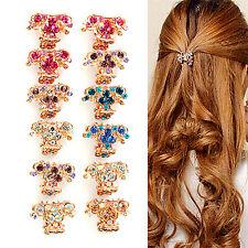 Best New Crystal Flower Mini Hair Claw Clamp Hair Clip Hair Pin Hair Accessory