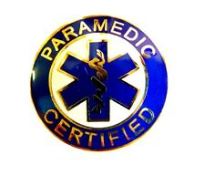 Blue Star of Life Uniforms 61G2 Paramedic Certified Collar Pin Device Gold Blue