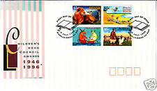 1996 Childrens Book Council Awards (Block of 4) Fdc