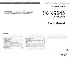 Onkyo Integra TX-NR545 Receiver Owners Instruction Manual