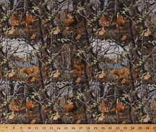 Realtree Deer in the Woods Camouflage Camo Cotton Fabric Print by Yard D658.20