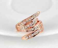 Ring mit Strass Kristall Rose-Gold Statement, Gr. 19 = 1,9cm NEU TOP