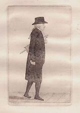 JOHN KAY Original Antique Etching. Dr Andrew Duncan in 1797