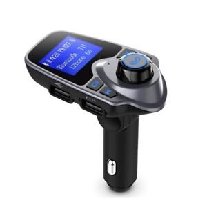 Bluetooth FM Transmitter Dual USB Port TF Card Radio Adapter Car Kit 1.44 Inch