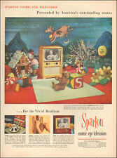 1953 vintage Christmas Television AD SPARTON Cosmic Eye TV Holiday Gifts  112317