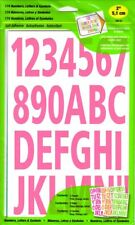 Hy-Ko 174 Numbers, Letters & Symbols, Neon Pink, Orange, Green, 2-Inch (MM-63)