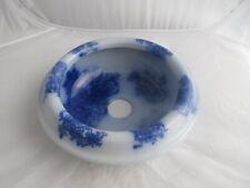 """Vintage Blue Flow Porcelain Sink Bowl 12"""" Wide 4"""" High"""