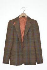 *STUNNING* ETRO Ladies Vintage 100% Check Tweed Wool Blazer Jacket UK10 US6