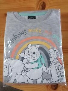 Kids Disney Winnie The Pooh Rainbows Make Me Smile 2 Piece Pyjamas Boys Girls