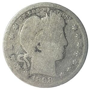 1898-O United States Silver Barber Quarter - AG