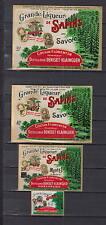 4 Anciennes étiquettes glacées  Alcool liqueur des Sapins   Savoie