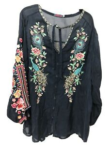 Gorgeous Johnny Was shirt / blouse - amazing embroidery - Size XL