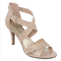 Women's Worthington  Cari Heeled Sandals Sizes, Colors: Black or Taupe MSRP $55