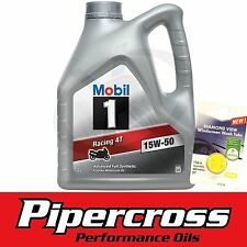 Mobil 1 RACING 4T 15W50 4L 4 Litre Motorcycle Oil + FREE 5L SCREEN WASH TAB