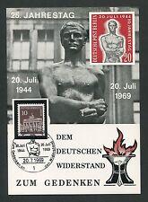 BERLIN WIDERSTAND 25. JAHRESTAG 1944/1969 SONDERKARTE RESISTANCE ANTIFA m396