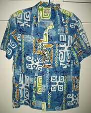 Vintage Hawaiian Island Casuals Waikiki Men's Barkcloth Shirt-Size Large